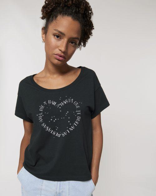 Camisetas sostenibles ama rie y baila