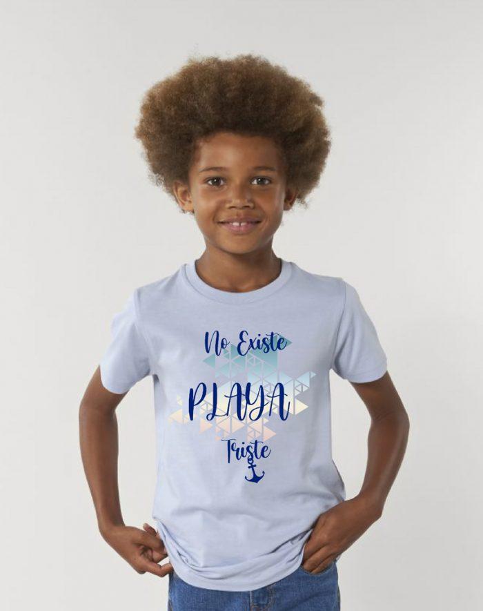 Camisetas sostenibles no existe playa triste